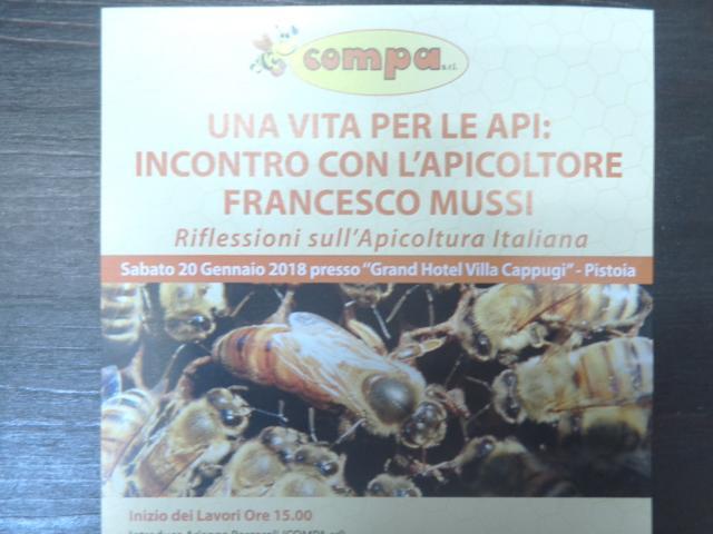 Incontro di Apicoltura con Francesco Mussi a Pistoia 20-01-2018